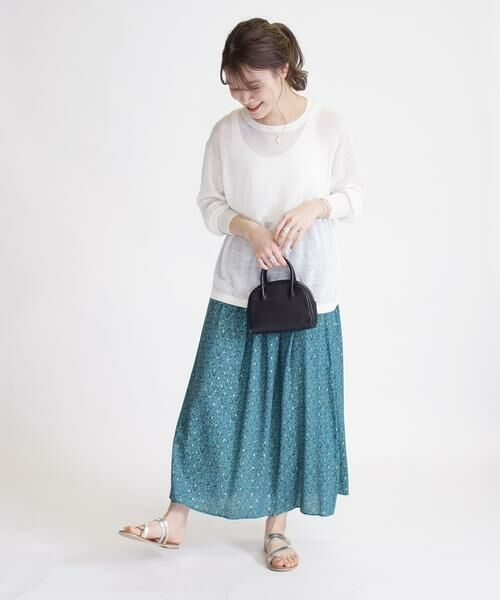 SHIPS for women / シップスウィメン ロング・マキシ丈スカート | ラメプリントギャザースカート | 詳細10