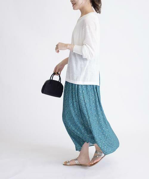 SHIPS for women / シップスウィメン ロング・マキシ丈スカート | ラメプリントギャザースカート | 詳細11