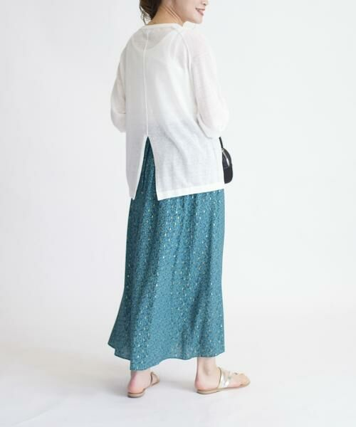 SHIPS for women / シップスウィメン ロング・マキシ丈スカート | ラメプリントギャザースカート | 詳細12