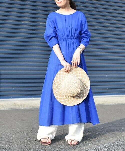 SHIPS for women / シップスウィメン ミニ丈・ひざ丈ワンピース   コットンカシュクール2WAYワンピース(ブルー)