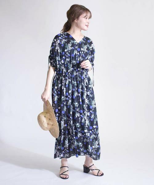 SHIPS for women / シップスウィメン ロング・マキシ丈ワンピース | リバティドルマンワンピース | 詳細5