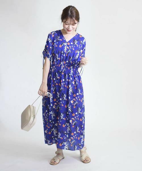 SHIPS for women / シップスウィメン ロング・マキシ丈ワンピース | リバティドルマンワンピース | 詳細19
