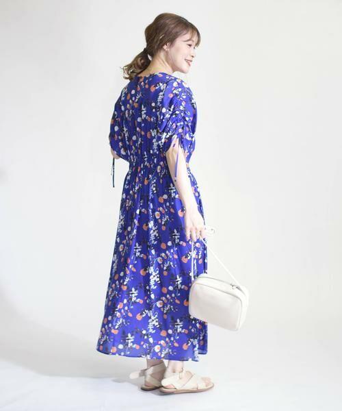 SHIPS for women / シップスウィメン ロング・マキシ丈ワンピース | リバティドルマンワンピース(ブルー)