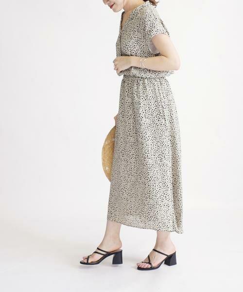 SHIPS for women / シップスウィメン ロング・マキシ丈ワンピース | フラワープリントショートスリーブワンピース◇ | 詳細3