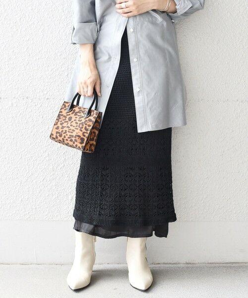 SHIPS for women / シップスウィメン ロング・マキシ丈スカート | 【WEB限定】透かしレイヤードスカート◇ | 詳細18