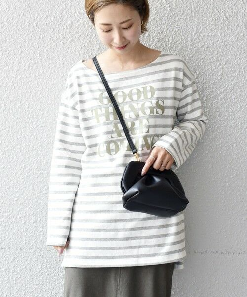 SHIPS for women / シップスウィメン カットソー   【WEB限定】プリントボーダールーズトップス◇   詳細8