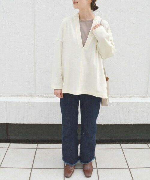 SHIPS for women / シップスウィメン カットソー   ディープネックビッグプルオーバー   詳細9