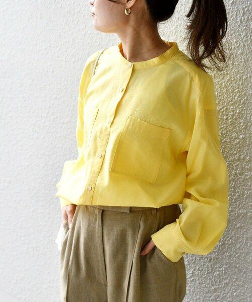 SHIPS for women / シップスウィメン シャツ・ブラウス   〈手洗い可能〉MANTECOシャツ◇(イエロー)
