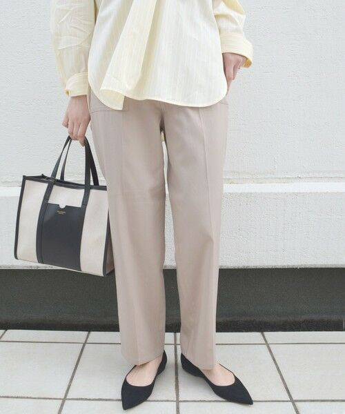SHIPS for women / シップスウィメン その他パンツ | ベイカーポケットパンツ(ベージュ)