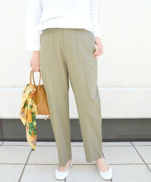 SHIPS for women / シップスウィメン その他パンツ | ベイカーポケットパンツ(オリーブ)