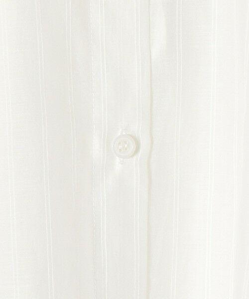 SHIPS for women / シップスウィメン ロング・マキシ丈ワンピース | 〈手洗い可能〉コットンシルクオーガンジーストライプシャツワンピース◇ | 詳細2
