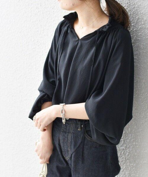 SHIPS for women / シップスウィメン シャツ・ブラウス   ソリッドシフォンギャザーブラウス   詳細19