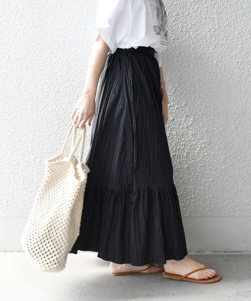 SHIPS for women / シップスウィメン ロング・マキシ丈スカート   リンクルティアードスカート   詳細4