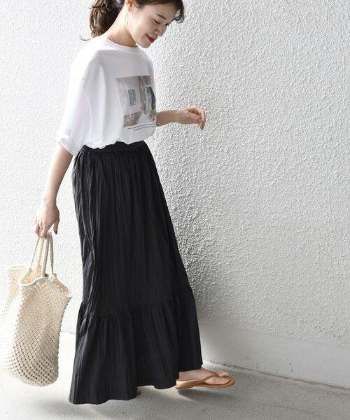 SHIPS for women / シップスウィメン ロング・マキシ丈スカート   リンクルティアードスカート   詳細9