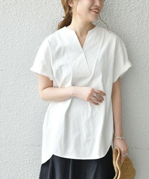 SHIPS for women / シップスウィメン Tシャツ | 《追加予約》SHIPS any: USAコットン スキッパーTEE | 詳細7
