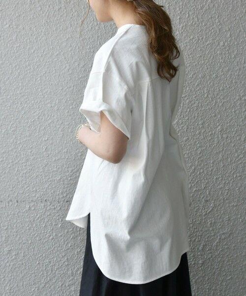 SHIPS for women / シップスウィメン Tシャツ | 《追加予約》SHIPS any: USAコットン スキッパーTEE | 詳細8