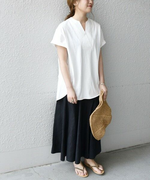 SHIPS for women / シップスウィメン Tシャツ | 《追加予約》SHIPS any: USAコットン スキッパーTEE | 詳細11