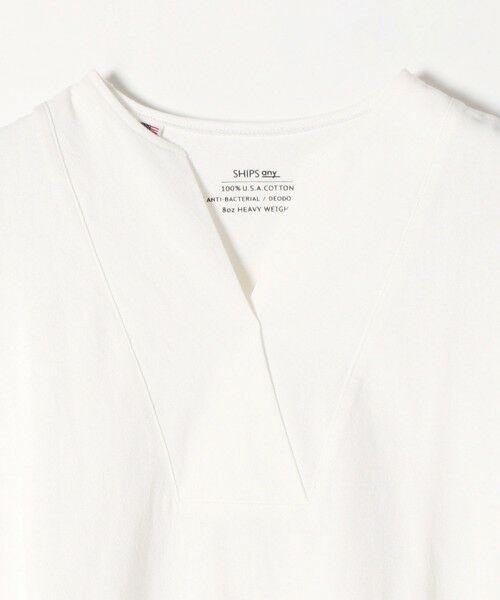 SHIPS for women / シップスウィメン Tシャツ | 《追加予約》SHIPS any: USAコットン スキッパーTEE | 詳細2