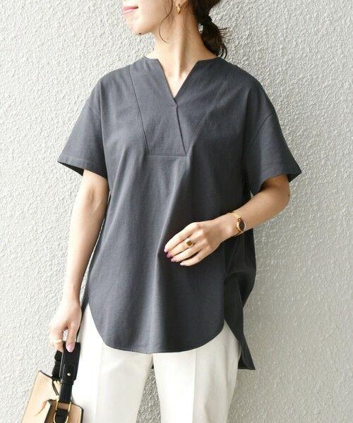 SHIPS for women / シップスウィメン Tシャツ | 《追加予約》SHIPS any: USAコットン スキッパーTEE | 詳細14