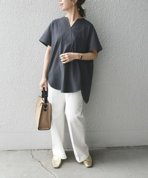 SHIPS for women / シップスウィメン Tシャツ | 《追加予約》SHIPS any: USAコットン スキッパーTEE | 詳細16
