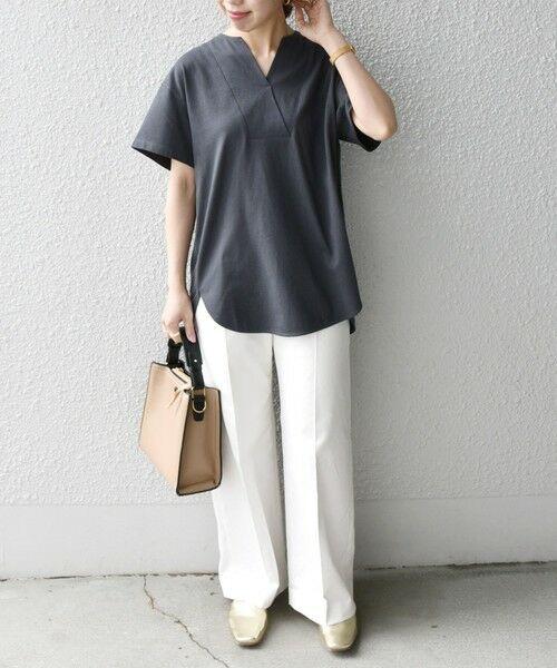SHIPS for women / シップスウィメン Tシャツ | 《追加予約》SHIPS any: USAコットン スキッパーTEE | 詳細17