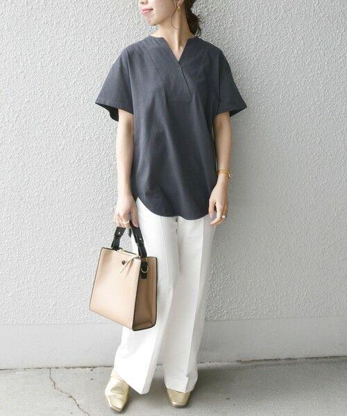 SHIPS for women / シップスウィメン Tシャツ | 《追加予約》SHIPS any: USAコットン スキッパーTEE | 詳細18