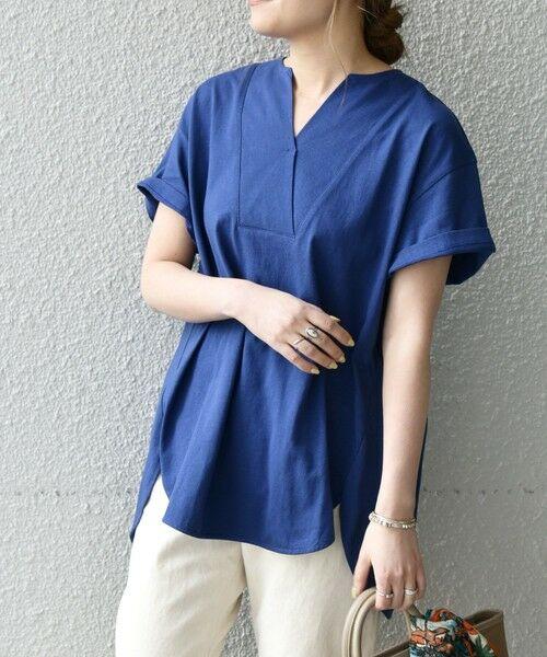 SHIPS for women / シップスウィメン Tシャツ | 《追加予約》SHIPS any: USAコットン スキッパーTEE | 詳細21