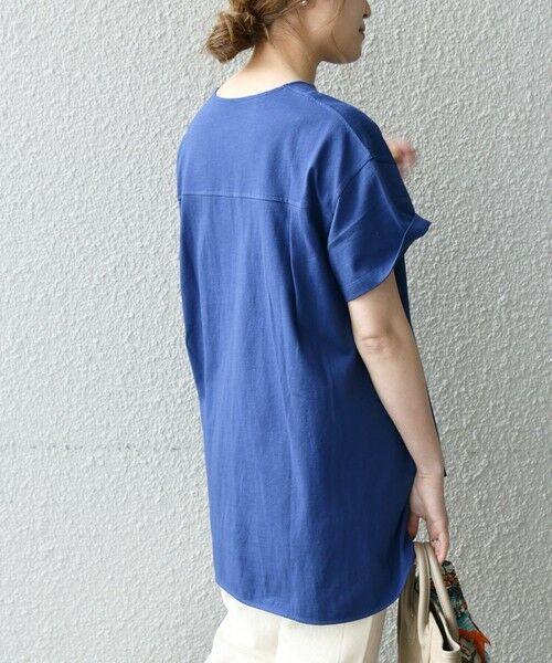 SHIPS for women / シップスウィメン Tシャツ | 《追加予約》SHIPS any: USAコットン スキッパーTEE | 詳細22