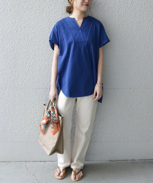 SHIPS for women / シップスウィメン Tシャツ | 《追加予約》SHIPS any: USAコットン スキッパーTEE | 詳細23