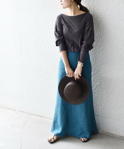 SHIPS for women / シップスウィメン カットソー   ソフトコットンオーバーTEE   詳細8