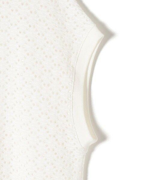 SHIPS for women / シップスウィメン カットソー | 《予約》〈手洗い可能〉アイレットクルーネックプルオーバー◆ | 詳細3