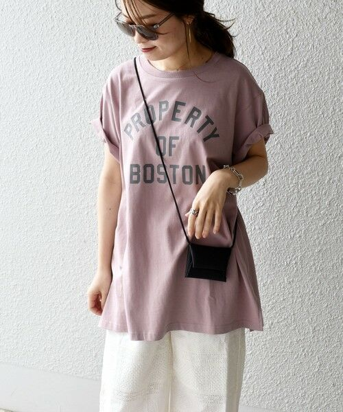 SHIPS for women / シップスウィメン カットソー | 《一部追加予約》【WEB限定】カレッジビッグTEE◆(ピンク)