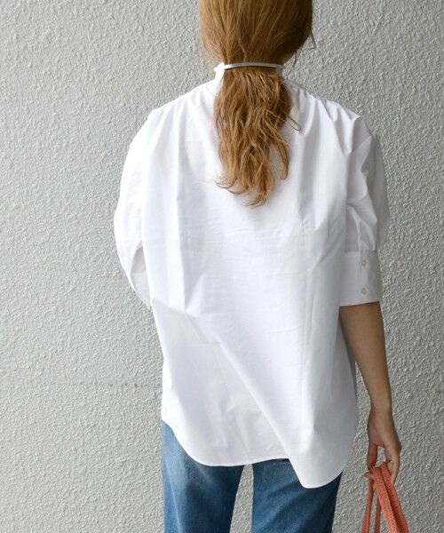 SHIPS for women / シップスウィメン シャツ・ブラウス | SHIPS any: オーガニック RENU フロントヨーク パフスリーブ シャツ〈抗菌防臭〉 | 詳細5