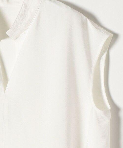 SHIPS for women / シップスウィメン シャツ・ブラウス | 《予約》SHIPS any: バックフレア ショートスリーブ スタンドカラーシャツ〈ウォッシャブル〉 | 詳細4