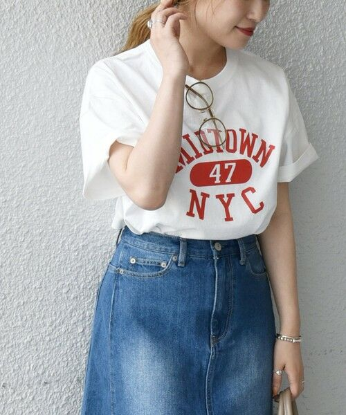 SHIPS for women / シップスウィメン Tシャツ | 《予約》【SHIPS any別注】THE KNiTS: カレッジ ショートスリーブ TEE | 詳細8