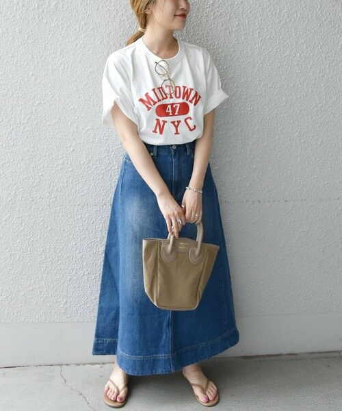 SHIPS for women / シップスウィメン Tシャツ | 《予約》【SHIPS any別注】THE KNiTS: カレッジ ショートスリーブ TEE | 詳細9