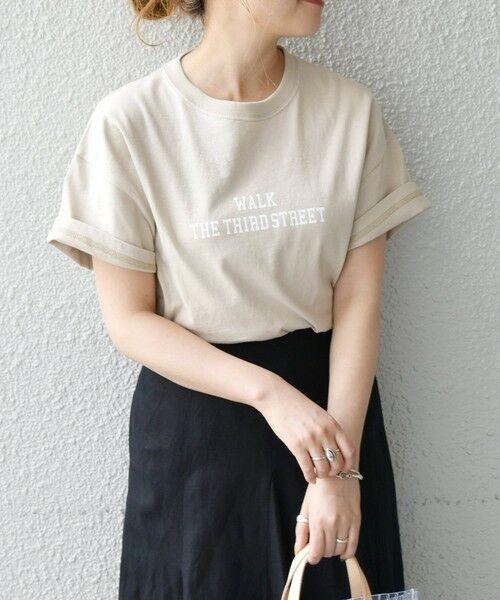 SHIPS for women / シップスウィメン Tシャツ | 《予約》【SHIPS any別注】THE KNiTS: カレッジ ショートスリーブ TEE(ベージュ)