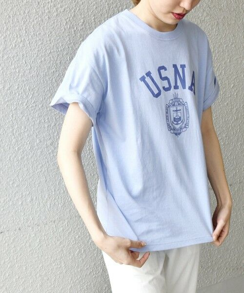 SHIPS for women / シップスウィメン Tシャツ | 《予約》【SHIPS any別注】THE KNiTS: カレッジ ショートスリーブ TEE | 詳細28