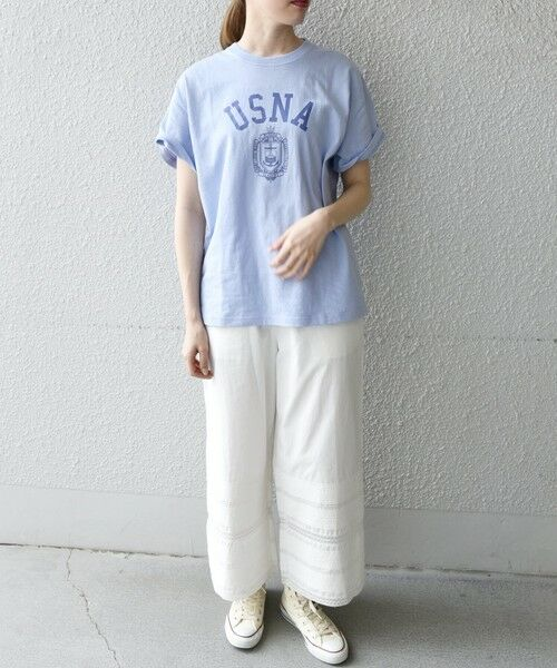 SHIPS for women / シップスウィメン Tシャツ | 《予約》【SHIPS any別注】THE KNiTS: カレッジ ショートスリーブ TEE | 詳細30