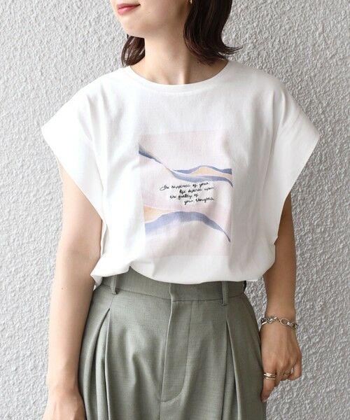 SHIPS for women / シップスウィメン カットソー   シルケットフレンチロゴトップス   詳細3