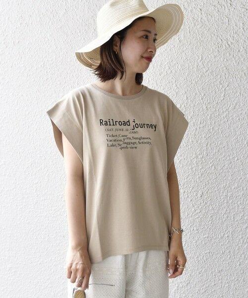 SHIPS for women / シップスウィメン カットソー   シルケットフレンチロゴトップス   詳細16