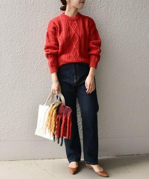 SHIPS for women / シップスウィメン ニット・セーター | 【SHIPS any別注】Oldderby Knitwear: アラン ケーブル ニット プルオーバー | 詳細9