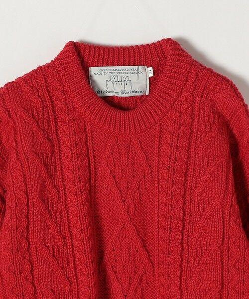 SHIPS for women / シップスウィメン ニット・セーター | 【SHIPS any別注】Oldderby Knitwear: アラン ケーブル ニット プルオーバー | 詳細3