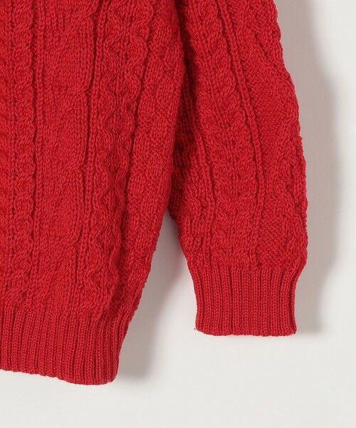 SHIPS for women / シップスウィメン ニット・セーター | 【SHIPS any別注】Oldderby Knitwear: アラン ケーブル ニット プルオーバー | 詳細4