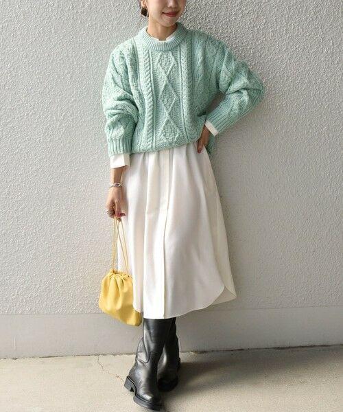 SHIPS for women / シップスウィメン ニット・セーター | 【SHIPS any別注】Oldderby Knitwear: アラン ケーブル ニット プルオーバー | 詳細14