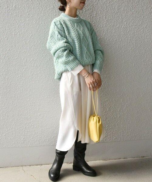 SHIPS for women / シップスウィメン ニット・セーター | 【SHIPS any別注】Oldderby Knitwear: アラン ケーブル ニット プルオーバー | 詳細15