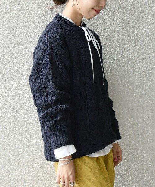 SHIPS for women / シップスウィメン ニット・セーター | 【SHIPS any別注】Oldderby Knitwear: アラン ケーブル ニット プルオーバー | 詳細18