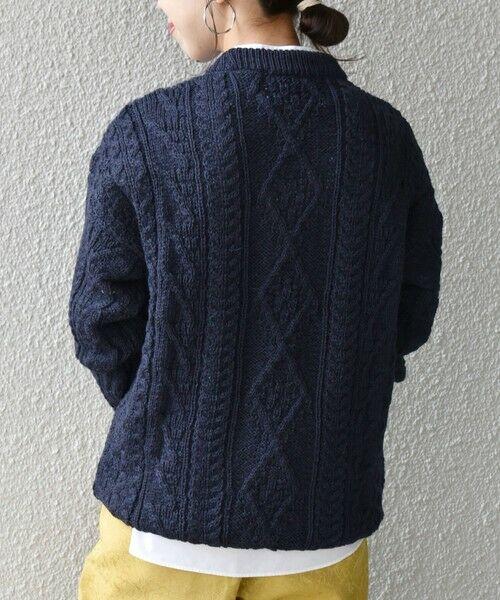 SHIPS for women / シップスウィメン ニット・セーター | 【SHIPS any別注】Oldderby Knitwear: アラン ケーブル ニット プルオーバー | 詳細19