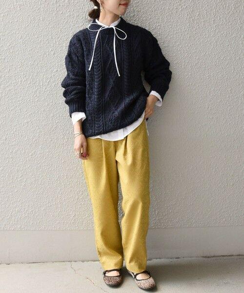 SHIPS for women / シップスウィメン ニット・セーター | 【SHIPS any別注】Oldderby Knitwear: アラン ケーブル ニット プルオーバー | 詳細21