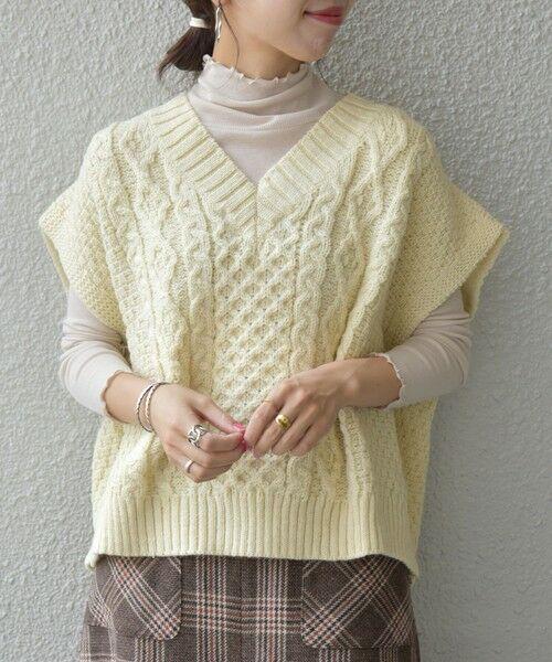 SHIPS for women / シップスウィメン ベスト | 【SHIPS any別注】Oldderby Knitwear: オーバー アラン ケーブル ニット ベスト | 詳細3